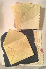 10 X hecho a mano de morera de papel Etiquetas De Regalo Y Sobres ** Amarillo Verde ** ecs02