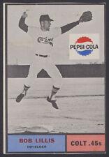 1962 PEPSI PEPSI-COLA ~ HOUSTON COLT .45's ~ BOB LILLIS ~ SHORT PRINT SP