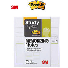2 Pack x 3M POST-IT Study Mate MEMORIZING Notes 654 Super Sticky Notes Memo