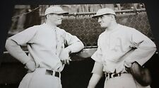 LEFTY GROVE AND MICKEY COCHRANE PHILADELPHIA A's TALK ABOUT 1929 PENNANT WIN