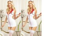 NEW WOMENS LADIES SEXY NAUGHTY NURSE COSTUME HEN DOO FANCY DRESS PARTY OUTFIT