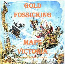 CD - Gold - 108 Historical Goldfields Fossicking Maps Victoria - +eBooks