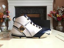 Nike Zoom Lebron V 5 White/Midnight Navy Size 10