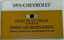 74 1974 Chevy Chevrolet truck Owners manual glove box