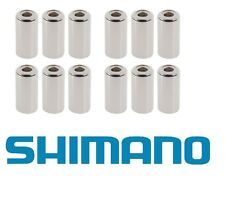 12 x Shimano SIS-SP40 Steel/ Metal Outer End Caps 6mm (for Brakes) - Ferrule