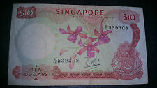 Singapore Orchid LKS $10 note