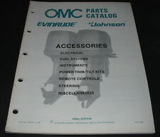 Parts Catalog OMC Evinrude Johnson Accessories Electrical Fuel Systems Steering!