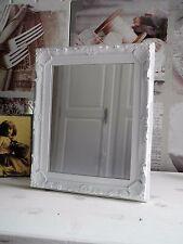 13x18 Spiegel Wandspiegel Barock weiß Kunststoff Nostalgie shabby French Chic