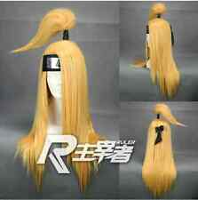 Naruto Deidara Anime Cosplay Costume Wig + Free wig CAP +TRACK NUMBER