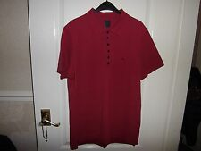 MENS PRETTY GREEN 5 BUTTON POLO MOD WELLER SCOOTERIST NORTHERN SOUL