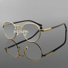 Vintage Oval Gold Eyeglass Frame Man Women Plain Glass Clear Full Rim Spectacles