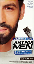 Just for Men Mustache & Beard M55 Real Black