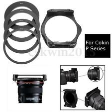 4Pcs Set 58mm 67mm 72mm 77mm Adapter Ring+Lens Filter Holder For Cokin P Series