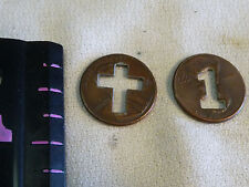 2 Lincoln Penny with the Cross Cut Out  & 1 CUT OUT