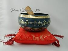 "5"" Tibetan Singing Bowl for  Meditation with Cushion and Mallet 3 day delivery"