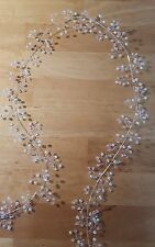 "34"" Hair vine/hair wrap wedding bridal prom White/Ivory pearl beads/crystals"
