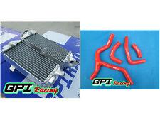 aluminum radiator + RED hose FOR Honda CRF450R CRF450 CRF 450R 2013 2014 14 13