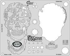 "Artool Iwata Craig Fraser Skullmster Steam Driven ""Steam Skull"" Airbrush Stencil"