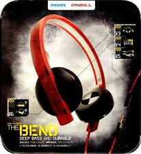Philips O'Neill **Ultra Flexible TOUGH DURABLE DEEP BASS** Headphones SHO4200RW
