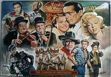 The Legends of Hollywood Blech Schild 35x50cm Filmstars Kino Film Stars Legenden