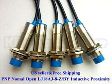 5Pcs NO LJ18A3-8-Z/BY Inductive Proximity Sensor Switch PNP DC6V-36V US
