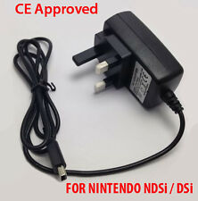 CE Mains Wall Charger UK Adapter UK Plug For Nintendo DSi NDSi DSiXL XL DSi 3DS