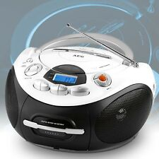 Cassette radio CD Player AUX MP3 Music Portable stereo system recorder Children