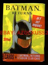 Batman Returns Topps Packet Pack Trade Cards Sealed