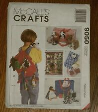 McCall's 9050 Accessories For Bean Bag Babies Backpack Tote Craft Pattern