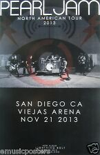 "PEARL JAM SAN DIEGO ""NORTH AMERICAN TOUR 2013"" CONCERT POSTER - Band In Concert"