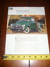 1954 CHEVROLET PICK UP TRUCK - ORIGINAL 2010 ARTICLE LITERATURE