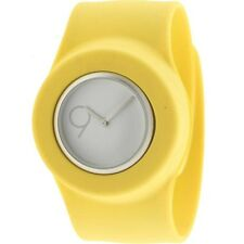 $110 Easy Slap On Fashion Cloud 9 Analog  Watch (yellow)Battery not included
