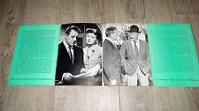 jean gabin BUFERE  ! Silvana Pampanini  rare dossier presse cinema 1952