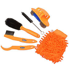 6 IN 1 Bicycle Cleaing Tool kits Chain Cleaner+tire Brushes+Bike Cleaning Gloves
