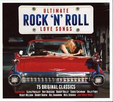 ULTIMATE ROCK'N'ROLL LOVE SONGS - 75 ORIGINAL CLASSICS VARIOUS ARTISTS (NEW 3CD)