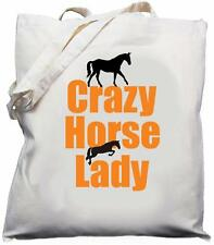 Crazy Horse Lady - Natural (Cream) Cotton Shoulder Bag