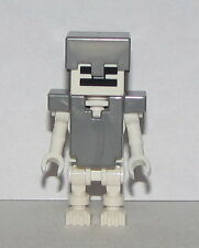 Lego New Skeleton with Cube Skull Helmet and Armor from Mindcraft Set 21121