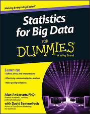 NEW Statistics for Big Data For Dummies By Alan Anderson Paperback