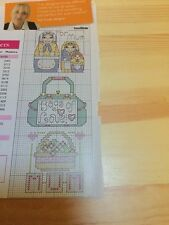 Mini Card Toppers Motifs Cross Stitch Charts - Mother's Day - Sue Cook