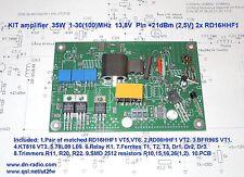 KIT PA Unit 35W 1-30(100)MHz 2x RD16HHF1 input +21dBm elecraft k2 k3 FT-817