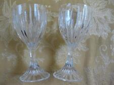 2 Crystal Park Lane Mikasa White Wine Goblet Glasses Water Glasses