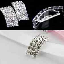 'A' GRADE 10PCS CRYSTAL RHINESTONE DIAMANTE VAULTED BUCKLE RIBBON SLIDERS CRAFT