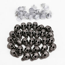 30pcs Punk Skull Head Leather Rivets Set for Bag Shoes Clothing Leathercraft