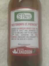 TORONTO St. PATRICKS Molson Canadian NHL Stanley Cup beer bottle USA DISTRIBUTED