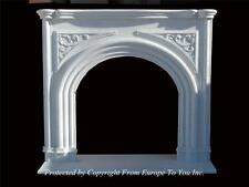 HAND MADE CUSTOM SOLID MARBLE ESTATE GOTHIC FIREPLACE MANTEL - FPM315