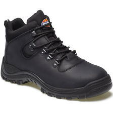 MENS DICKIES FURY STEEL TOE CAP SAFETY BOOTS SIZE UK 11 EU 45 FA23380A BLACK