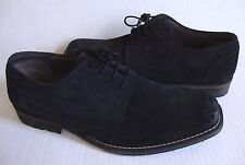 NEW CLARKS METTRO STREET LACE UP OXFORD SUEDE LEATHER SHOES BLACK 10.5