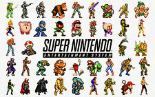A4 Poster - SNES Retro Gaming Characters (Picture Print Game Art Zelda Mario)