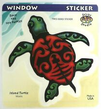 Sticky Art Studio Island Turtle 2-Sided Window Sticker KK202 Kathleen Kemmerling