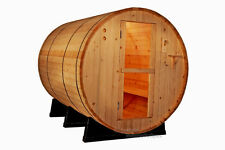 NEW OUTDOOR 6' Foot Canadian PINE WOOD Barrel Sauna WET / DRY SPA  4 Person Size